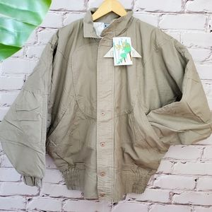 NWT 80s Vintage Batwing Lined Cotton Jacket
